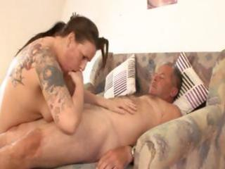 chubby mature german brunette hair with tattoos