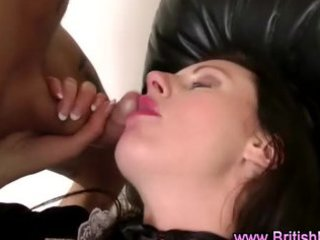 british aged in nylons sucks and receives drilled