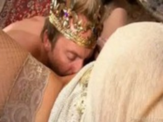 breasty wife treats her chap like a king for a day