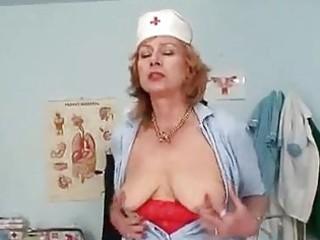 big tits redhead granny dildoyin...