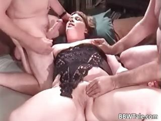overweight milf enjoys in great group part4