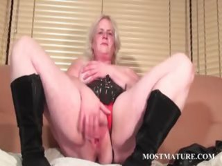 solo scene with older rubbing love tunnel