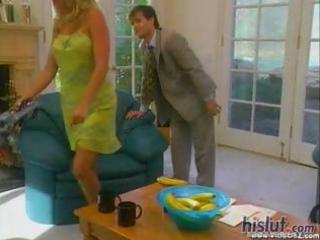 Vintage hardcore with a sexy blonde milf getting