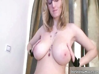 breasty blonde slut acquires sexually excited