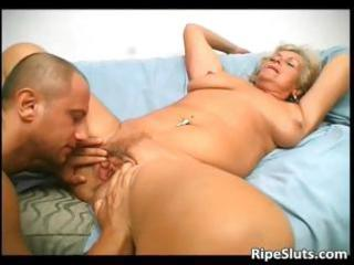 overrupe older blond whore acquires her old
