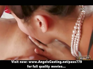 dilettante amazing brunette lesbo angels with