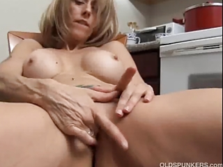 concupiscent mature chick with large teats rubs