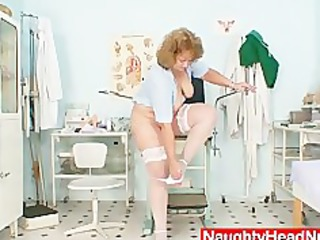 plump old nurse mom acquires nasty in gyn clinic
