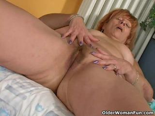 redheaded granny susan copulates her hirsute