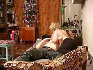 Russian mature mom with schoolboy