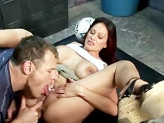 ava lauren sexy milf in locker room