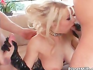 naughty blonde milf with pierced muff acquires