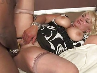 aged blond with biggest melons acquires