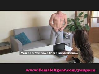 FemaleAgent. MILF exploits shy guy in casting