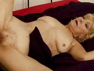 granny gets her hairy cookie fucked hard