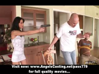 nasty brunette hair mother i with a gun does