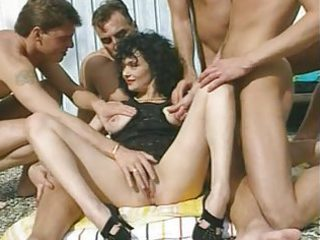 veronique - black haired mother i with 5 men by