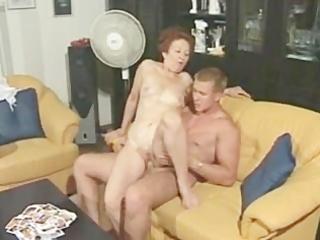 granny susanne drains muscle lad