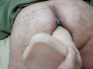 wife ding-dong on large vibrator in a-hole your