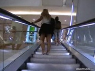 mother i blond hawt chick - sex in mall dressing