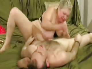 floozy granny enjoys with younger man.