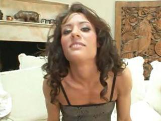 aged playgirl with shaggy hair receives her