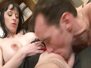 large boobed french lady drilled hard in the