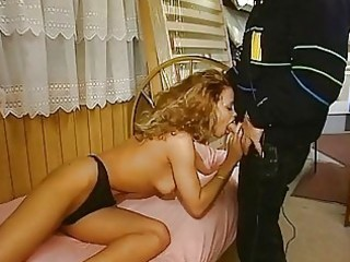 german milf sucks and fists herself
