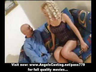 hot blond milf as bride does oral-stimulation and