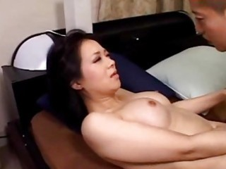 breasty milf sucking juvenile lad riding on him