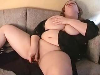 hot large breasted mother i fatty masturbates on