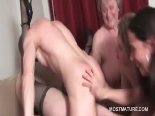aged hawt chick pussy screwed to big o in group