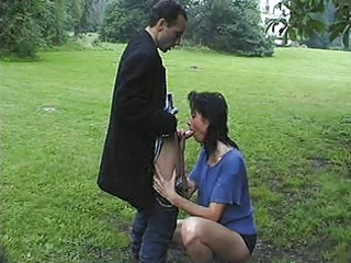 large d like to fuck drilled in the park of a
