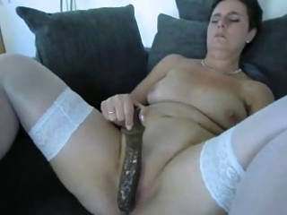 older dilettante with a large sextoy
