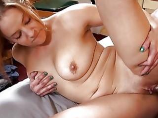 sexy tattooed momma with big bosom sucks hard