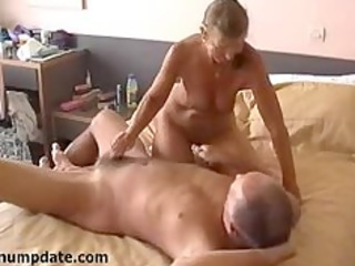 slutty wife jerks off hubbys cock