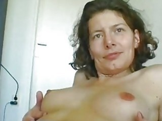 older german woman rubbing herself