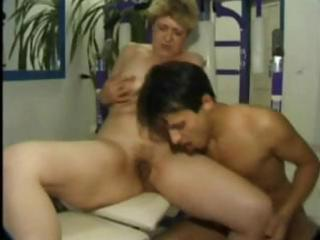 mature drilled in the gym