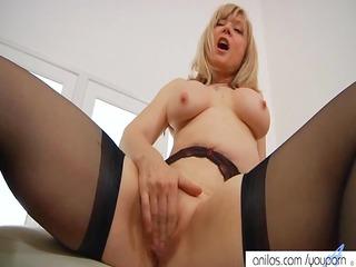 nina hartley spanks her pussy