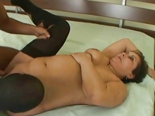 naughty granny gets drilled hard by youthful stud