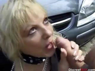 French mature gets anal outdoors