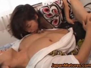 eri nakata japanese older lady engages