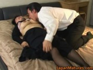 japanese older babe has sexy sex