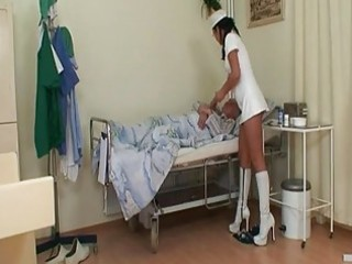 lustful youthful nurse bitch joins granny and...