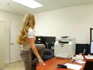 astounding breasty milf is fucking at work