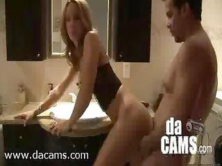 non-professional couple baths quickie