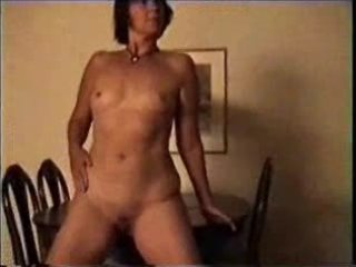 older non-professional housewife show breasts and
