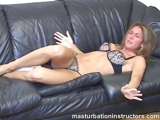 jerk off teacher goes topless to tease fellows to