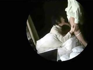 granny non-professional couple caught having sex