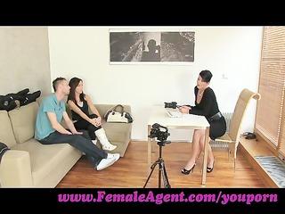 femaleagent. jealous casting wont share her fiance